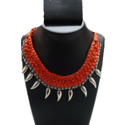 Orange German silver necklace