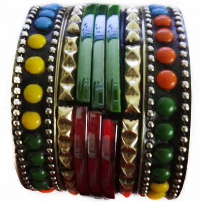 Junk Bangles (Multi color dots)