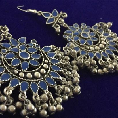 Afghani Blue Earrings