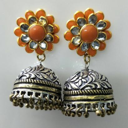 Orange Pachi Earrings