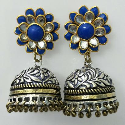 Dark Blue Pachi Earrings